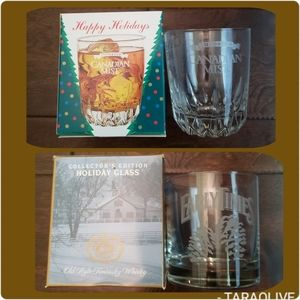 Set of 2 1997 collector's edition whiskey glasses